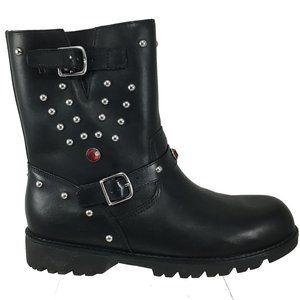 RALPH LAUREN  Misses •Rocker Mid• Black Moto Boot